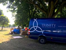 Trinity Set & Stage preparing for an outdoor, summer set to build